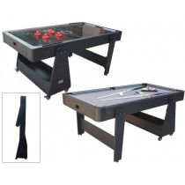 TopTable Twist 2-1 Max 6ft Grijs-Zwart