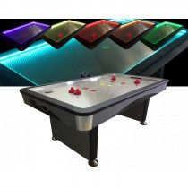 TopTable Airhockeytafel Fast Flash Steel & Multi LED 8ft